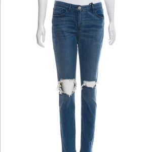 3 x 1 mud-rise skinny jeans